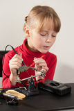 Child hobby Stock Images