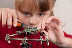 Child hobby royalty free stock photography