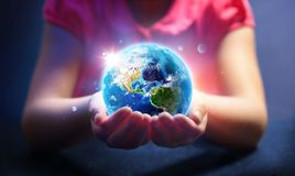 Free Child Hold World - Magic Of Life - Earth Day Concept - Royalty Free Stock Photography - 142258887