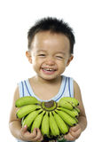 Child holding banana Royalty Free Stock Photo