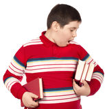 Child holding books Royalty Free Stock Photo