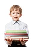 Child holding books Royalty Free Stock Photo