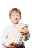 Child holding books Royalty Free Stock Images