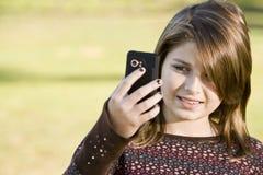 Child holding camera Royalty Free Stock Images
