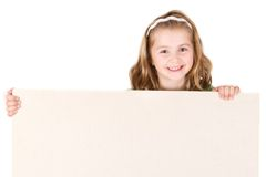 Child holding empty board Royalty Free Stock Image