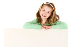 Child holding empty board Royalty Free Stock Photography