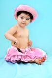Child holding a flashlight Royalty Free Stock Photo
