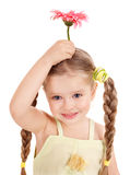 Child holding flower. Stock Images