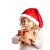 Child holding gift Stock Photography