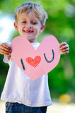 Child holding heart Stock Photo