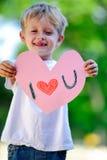 Child holding heart Stock Photo