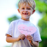 Child holding heart Royalty Free Stock Image