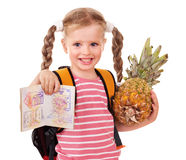 Child holding international passport. Stock Photography