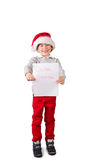 Child holding a letter to santa Royalty Free Stock Images