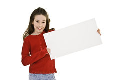 Child holding sign Stock Images