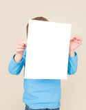 Child Holding Sign, Kids Education Stock Images