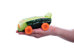 Car of cucumber Royalty Free Stock Image