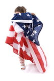 Child Holding US Flag Royalty Free Stock Photos