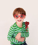 Child holding Valentine's Day Heart, Love stock photography