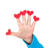 Child Holding Valentine's Day Hearts Royalty Free Stock Photo