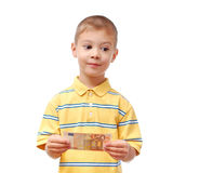 Child holds money Stock Photography