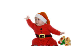 Child in holy Nicolaus dress Stock Images