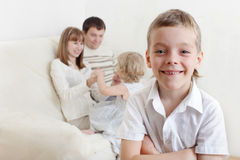 Child at home Royalty Free Stock Photography