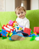 Child in home interior Stock Photos