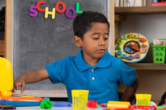 Child in Home School Setting Royalty Free Stock Photography