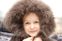 Child in a hood Royalty Free Stock Image