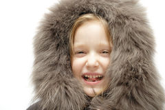 Child in a hood Royalty Free Stock Photography