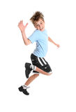 Child hopping. Hopping or skipping child showing happiness Royalty Free Stock Photography
