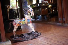 Child horse wooden chair Stock Photo