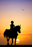 Child on horseback Stock Photography