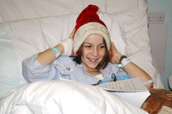 Child in hospital at christmas Royalty Free Stock Photography