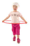 Child with hula hoop Stock Image