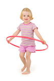 Child with hula hoop Royalty Free Stock Image