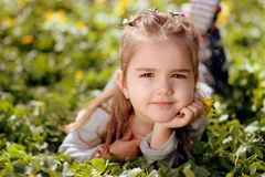 Child, Human Hair Color, Grass, Beauty Stock Image