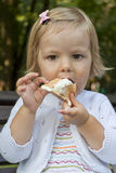 The child with ice-cream Royalty Free Stock Image