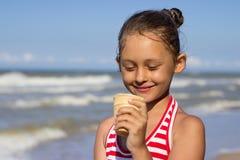 Child and ice cream Royalty Free Stock Photo