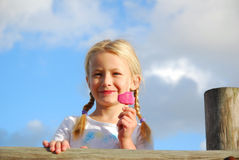 Child with ice-cream Stock Photo