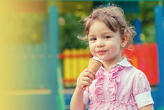 Child with ice cream Stock Photos