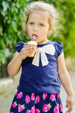 Child with ice cream Royalty Free Stock Photography