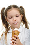 Child with ice cream Stock Photography