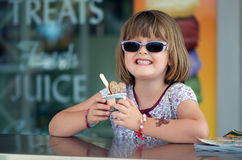 Child at ice cream shop Stock Photo