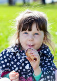 Child is ice cream Royalty Free Stock Image