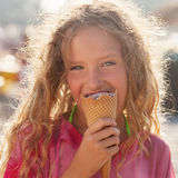 Child with ice cream Stock Image