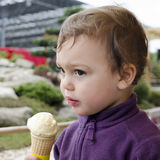Child with ice cream Royalty Free Stock Images