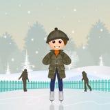 Child on ice rink Stock Image
