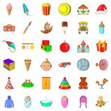 Child icons set, cartoon style. Child icons set. Cartoon style of 36 child vector icons for web isolated on white background Stock Image